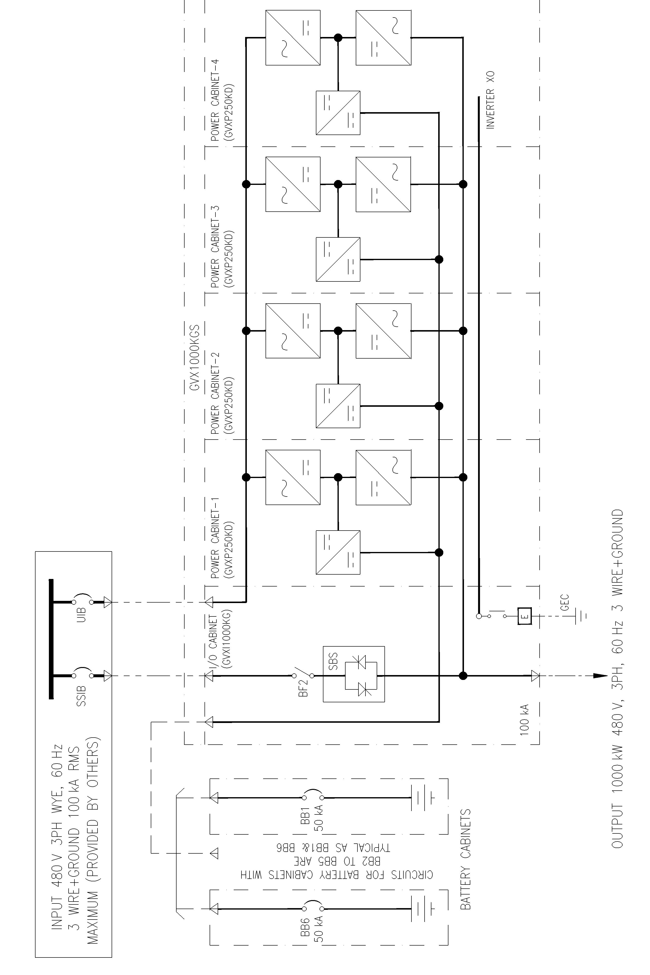 Ups Schematic Dual Wiring Diagrams Data Base Apc Diagram Galaxy Vx 1000 Kw Mains Technical Manuals 480 V Rh Productinfo Schneider Electric